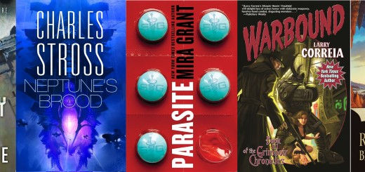 2014 Hugo Awards Finalists - From left to right; Ancillary Justice by Ann Leckie, Neptune